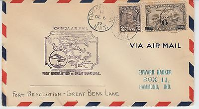 Fort Resolution to Great Bear Lake Dec 6, 1932 AAMC 3247a  Pilot W R May