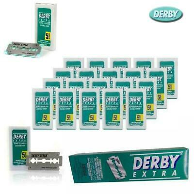 50 Derby Extra Double Edge Safety Razor Blades for Straight Razors