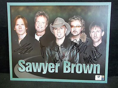 Autographed/Signed 8x10 Photo of Sawyer Brown With Global COA*Country Music Band