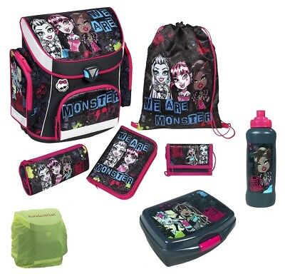 Monster High Schulranzen Set 8tlg. Scooli Campus Plus Federmappe Dose Flasche