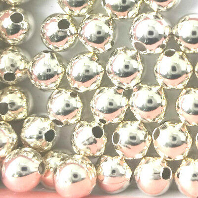 925 Sterling Silver Round Spacer Beads 2mm 3mm 4mm 5mm 6mm PK10 PK50 PK100
