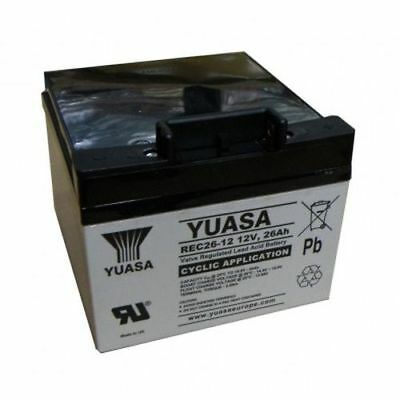 Yuasa REC26-12 26ah Golf Battery for Powakaddy T Bar Included