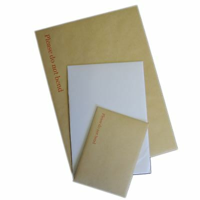 "C3 C4 C5 C6 Brown Manilla White Hard Board Backed Envelopes ""Please Do Not Bend"""