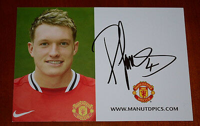 Phil Jones, Manchester United, Signed Card