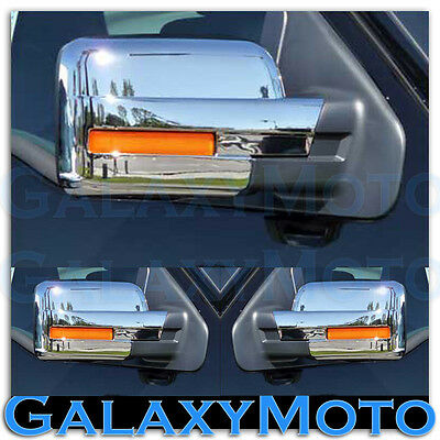 09-14 Ford F150 Truck Triple Chrome Plated Mirror with Turn Light Full Cover