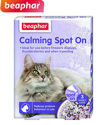 Beaphar Calming Spot On Treatment For Cats 3 Week Calms Soothes Fireworks L