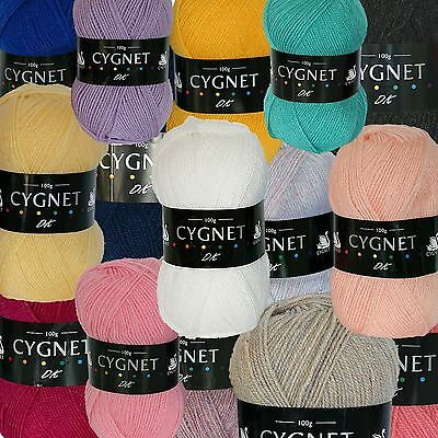 CYGNET DOUBLE KNIT OR  CYGNET GLITTERY  *100g Ball*  KNITTING WOOL YARN   DK