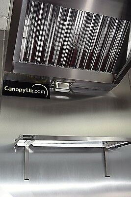 Commercial kitchen Extraction Canopies Hoods with built in fan 1800mm x 1000mm