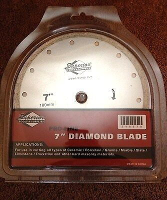"Brand New 7"" Diamond Blade Pro-Line Superior Tools & Supplies"