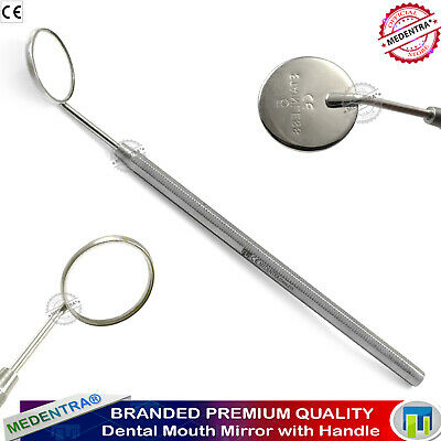 Mouth Mirror Handle with Mirror No. 5, Tooth Examination Instrument, S.Steel CE*