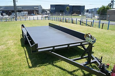 CAR CARRIER TRAILER 16x6'6 HEAVY DUTY WITH WINCH ROCKER ROLLER SLIDE AWAY RAMPS