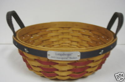 Longaberger 2005 American Presidential INAUGURAL Basket ~ NEW and MINT
