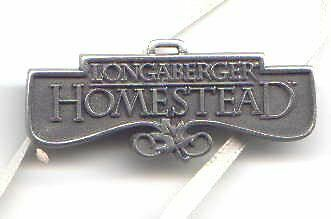 RARE ~~ Longaberger HOMESTEAD ~ Pewter TIE ON ~~ First!