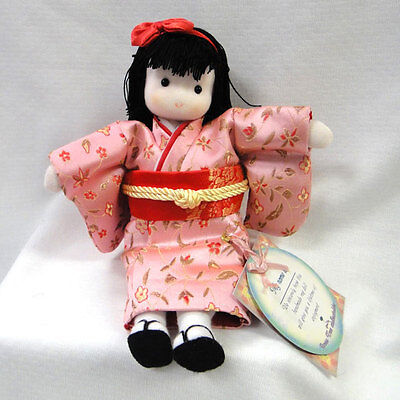 Green Tree Japanese Musical Doll - Peach