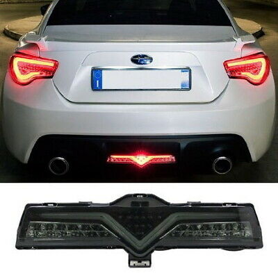 Smoked LED Rear Bumper Reverse Brake Fog Light Lamp For Scion FRS 86 Subaru BRZ