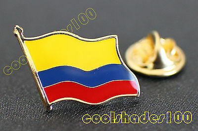 High Quality Colombia National Flag Waving Metal Lapel Pin Badge