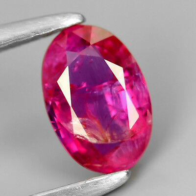 CERTIFIED 0.54ct Oval Natural UNHEATED Fiery Intense Pinkish Red RUBY #327246