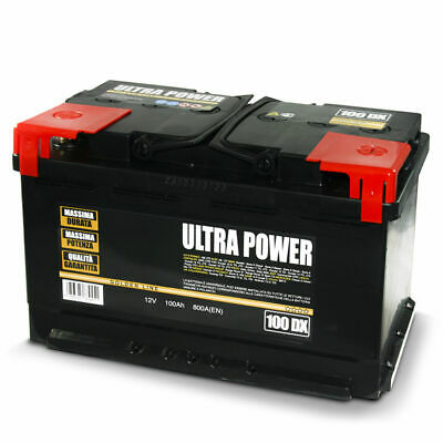 ULTRA POWER Batteria per auto 100Ah DX 800A pronta all'uso lunga durata potenza