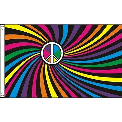 Rainbow Swirl Gay Pride March 5Ft X 3Ft Flag With Metal Eyelets