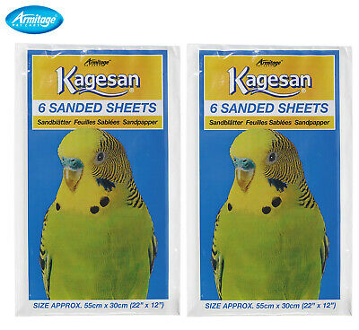 Kagesan 55X30Cm Budgie Canary Finch Cockatiel Bird Cage 12 Sand Sheets 27143