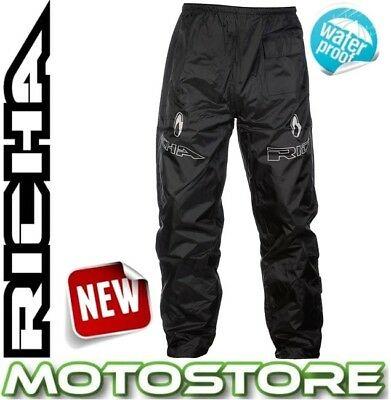 Energetic Richa Rain Warrior Over Trousers Waterproof Motorcycle Bike Pants Jeans Black Pants