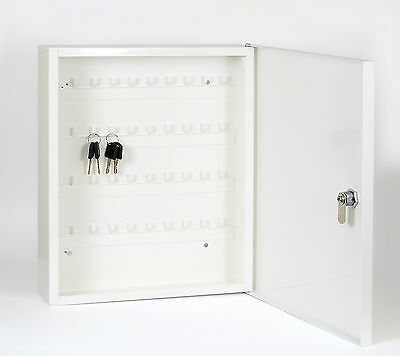 Key Cabinet Safe Case Box 36 Key Hooks Metal Storage Key Locking Security Case