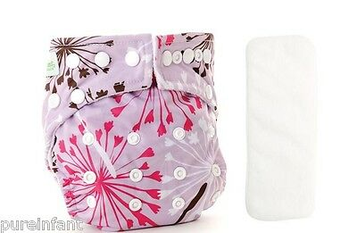 Bumkins One-Size Stuff-it Cloth Diaper - Dandelion + Bonus Insert