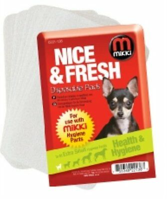 Mikki dog hygiene disposable pads bitch on heat or in season for use with pants