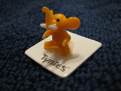 PAM ELEPHANT ORANGE TYNIES Tiny Glass Figure Figurines Collectibles NEW 0025