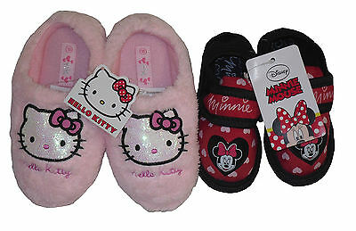 Girls Slippers Disney Minnie Mouse & Hello Kitty