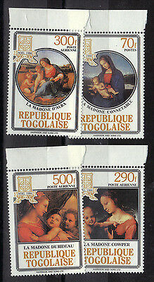 Africa TOGO 1984 PAINTINGS set 4v Unmounted Mint SG1744-1747 REF:Y440