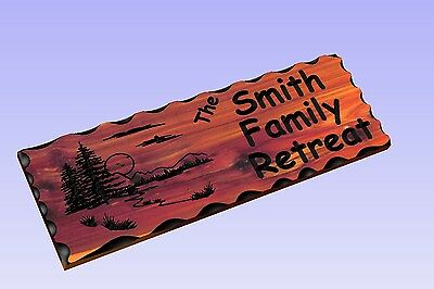 Personalized Custom Carved Wood Sign - Routed Cedar Rustic Plaque Home Decor