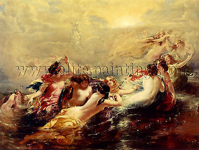 Frost William Edward Sirens Night tableau reproduction huile sur toile peinture