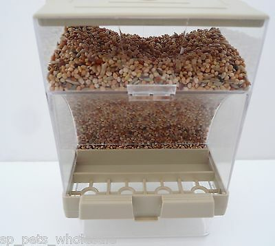 External Bird Seed Gravity Feeder/Hopper For Cage Fronts