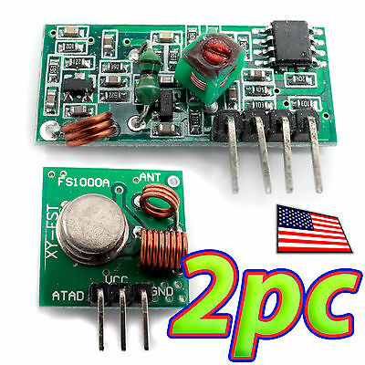 [2pcs] 433Mhz Radio Link RF transmitter & Receiver Remote Module Kit for Arduino