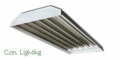 6 lamp T8 High Bay Fluorescent Light Fixtures For Shops Warehouse Machine Shops