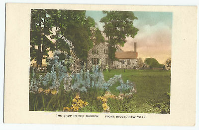 Stone Ridge NY Shop in the Garden New York Hand-Colored Vintage Postcard