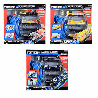 Childrens Tomy Tomica Hypercity Rescue Train Set Track City Diecast Toy ages 3+