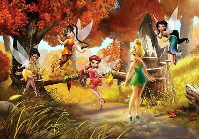 Wall Mural photo wallpaper FAIRIES IN THE MEADOW for bedroom DISNEY Tinker Bell