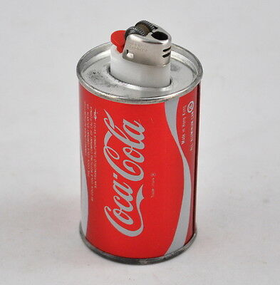 Coca Cola Coke Feuerzeug in Blechdose / Dose (lighter in tin can)