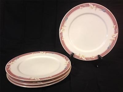 "Sango Majesty Taupe Fantasy Set of 4 10 9/16"" Dinner Plates Vintage"