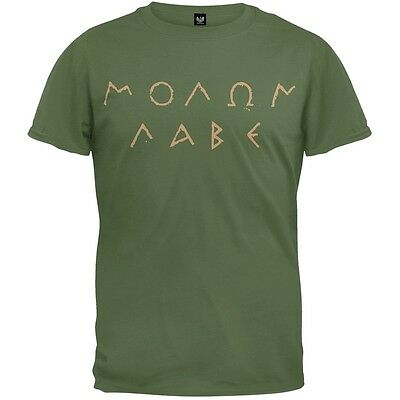 Molon Labe Ancient Greek Letters Adult Mens T-Shirt