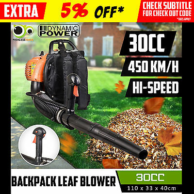 30cc Backpack Leaf Blower Commercial 2-stroke Fuel Hand Outdoor Garden Yard Tool