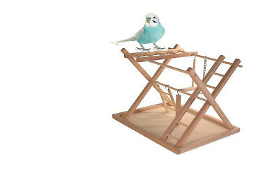 Trixie Wooden Budgie Parakeet Bird Play Ground Stand Perch Ladder Swing 5657 New