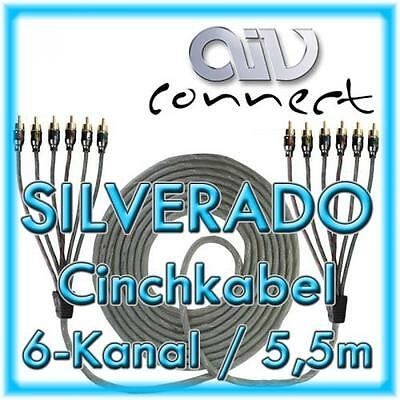 AIV Connect 890254 6-Kanal-Cinchkabel SILVERADO 5,5m 550cm