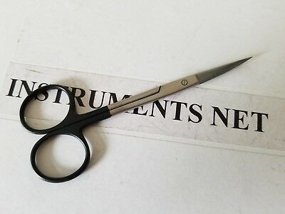 "2 SuperCut Iris Scissors 4.5"" Curved & Straight Surgical Dental Brand New"