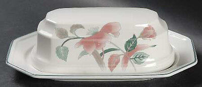 """Mikasa """"silk Flowers"""" Covered Butter Dish ~ F3003 ~ Registered Post"""
