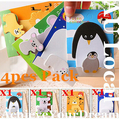 4pcs Stationery Sticky Memo Post-it Note Pad Paper Sticker STAGS0101&02&03&04