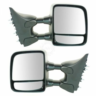 Manual Towing Textured Mirrors Left LH & Right Set for 04-10 Nissan Titan Pickup