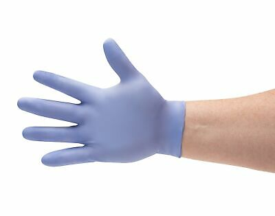 200 /2boxes Blue Nitrile Gloves Powder Free (Non Vinyl Latex) Small